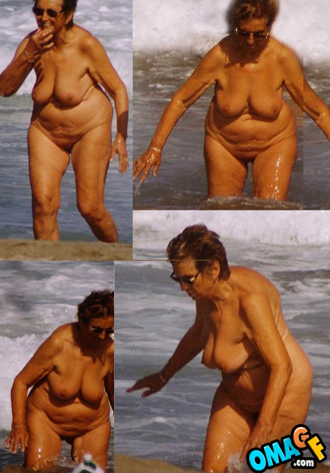 Old granny nudists